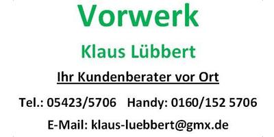 Vorwerk - Klaus Lübbert - Ihr Kundenberater vor Ort